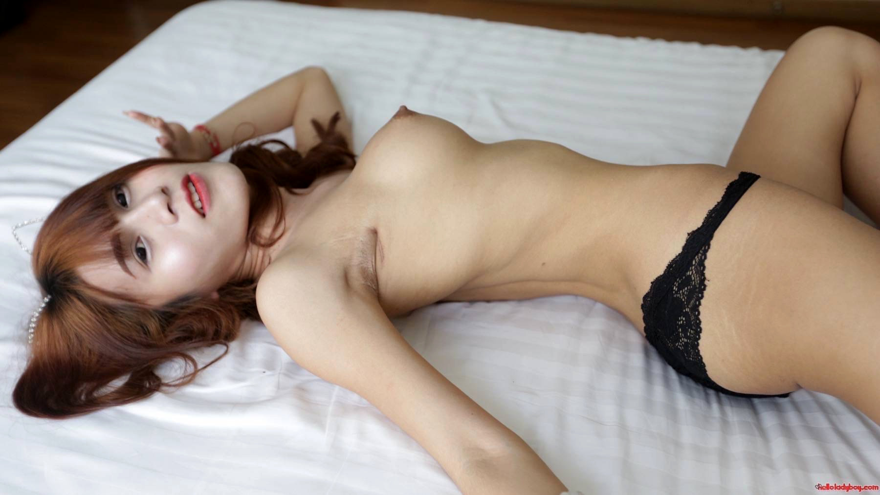 18 Year Old Racy And Filthy Asian Tranny Gets A Facial From White Tourist
