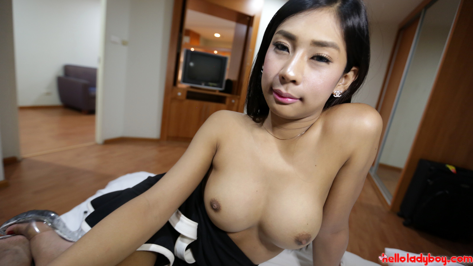 20 Year Old Nasty Asian T-Girl Gives A Blowjob And Gets A Cum-Shot