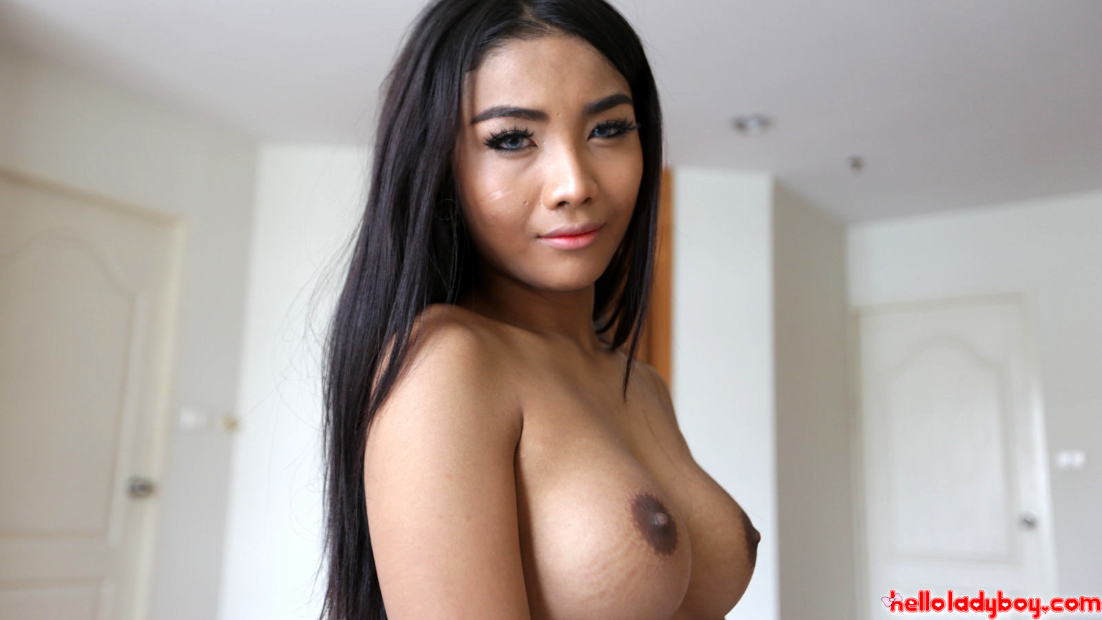 20 Year Old Starved Asian T-Girl Gets Smashed Doggiestyle By White Dick