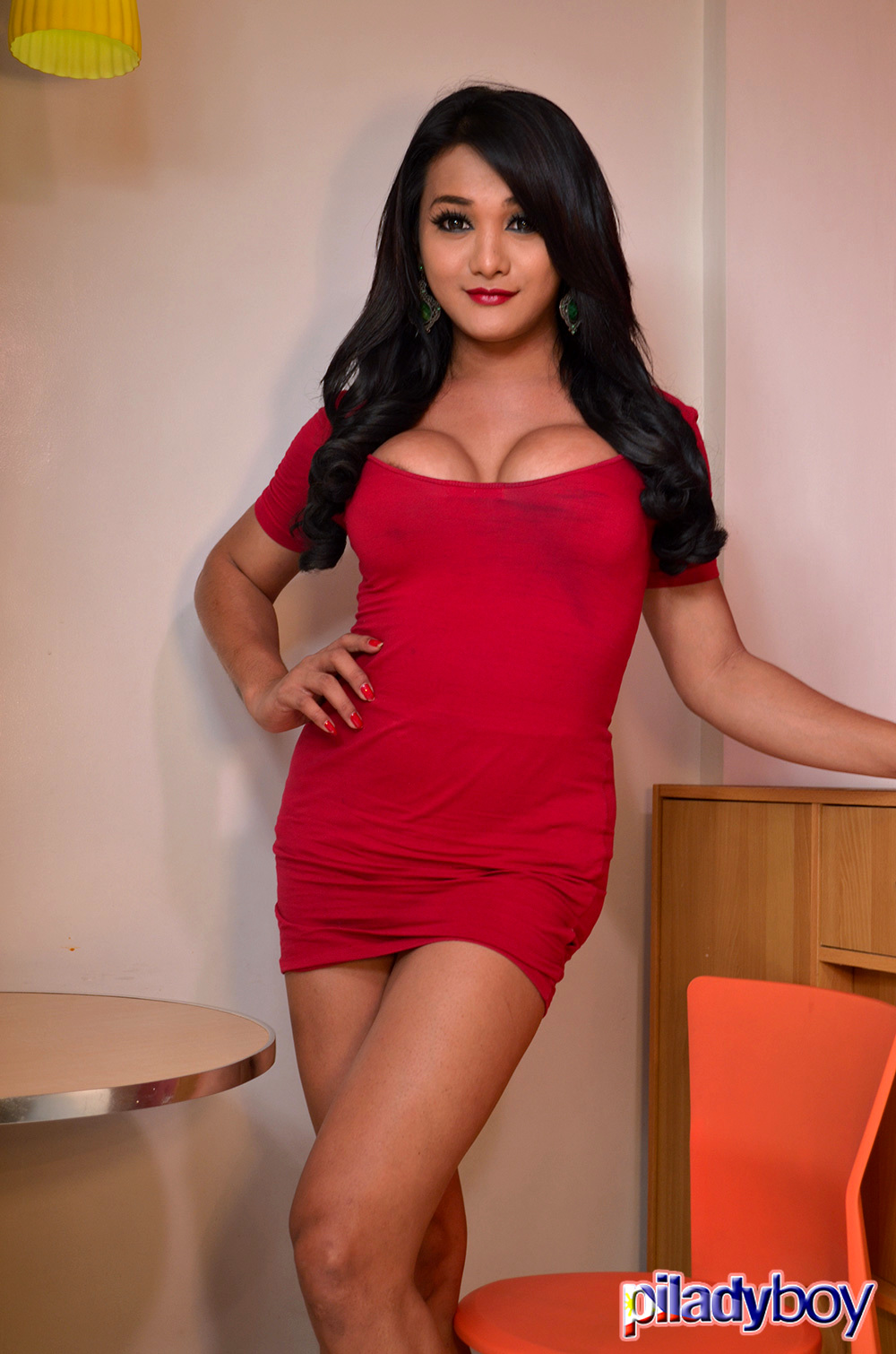 Alie: Red Skirt
