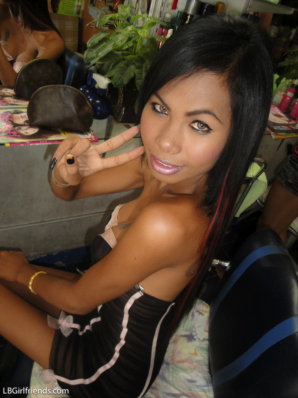 Anal Beads And Spread Asshole For Skinny Dickgirl Tranny Nong