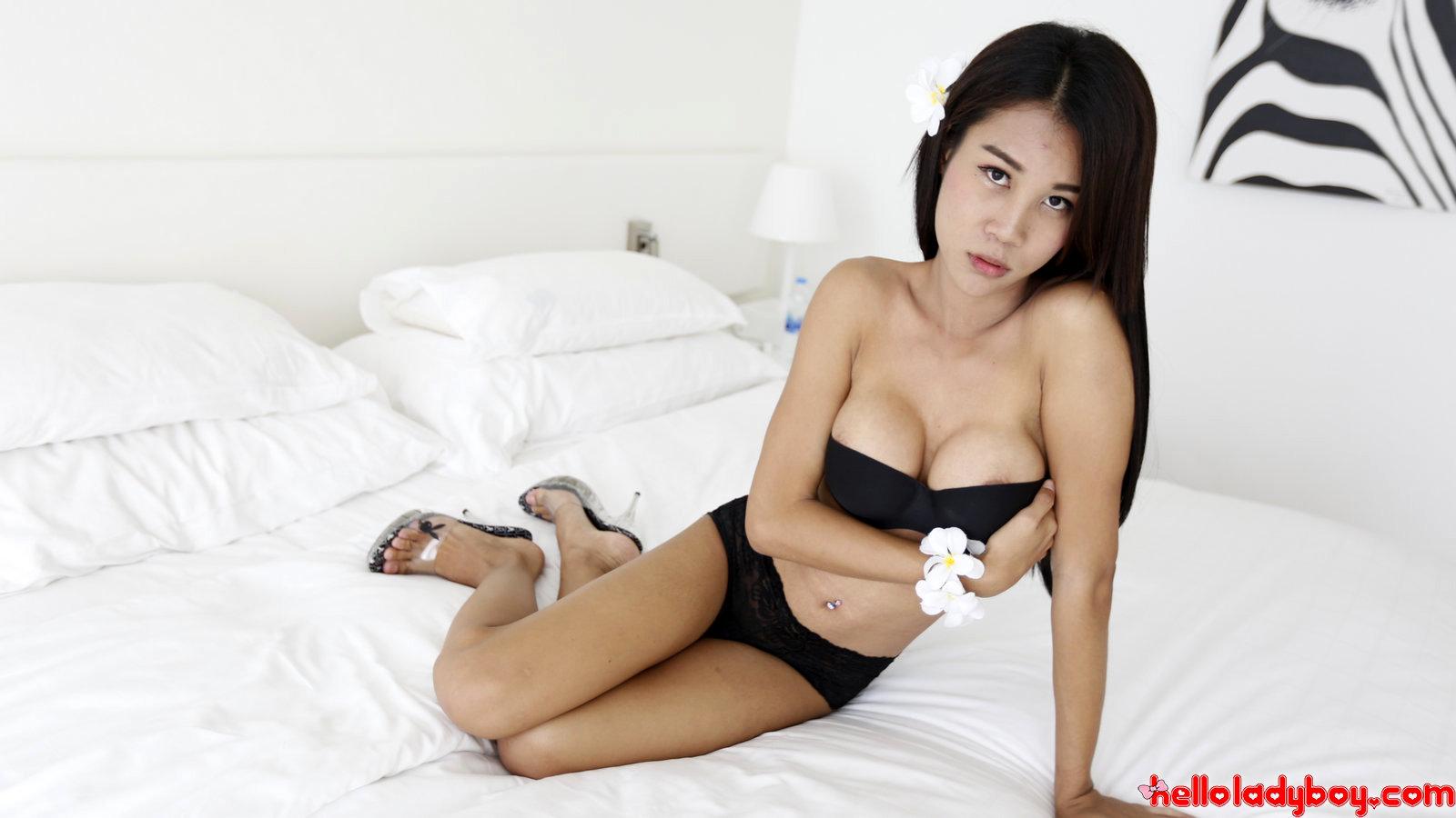 Asian T-Girl Bang's And Sucks White Tourist Penis