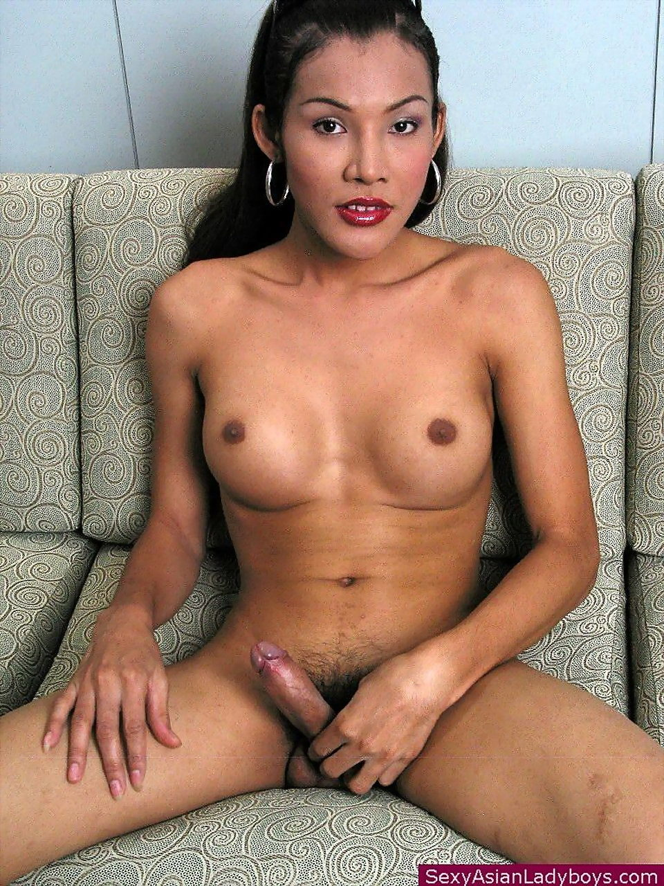 Busty T-Girl Proudly Playing With Her Rock Raw Schlong