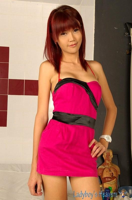 Innocent Thai TGirl Kitty Striptease
