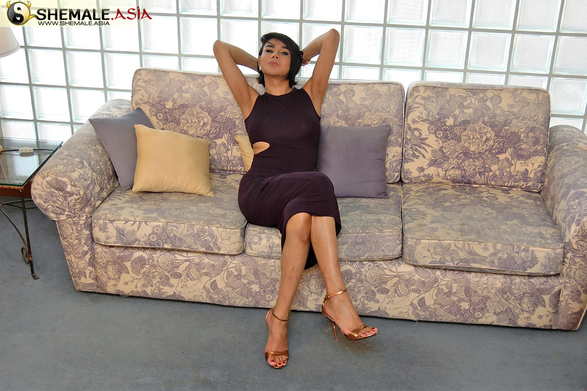 MILF Shemale Caught Wanking Her Suggestive Tool