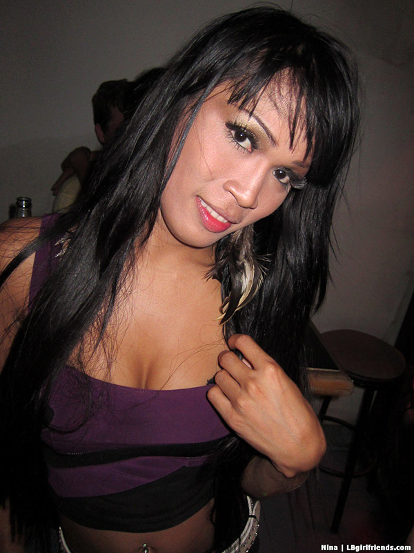 Nice Asian T-Girl Nina Bare Back