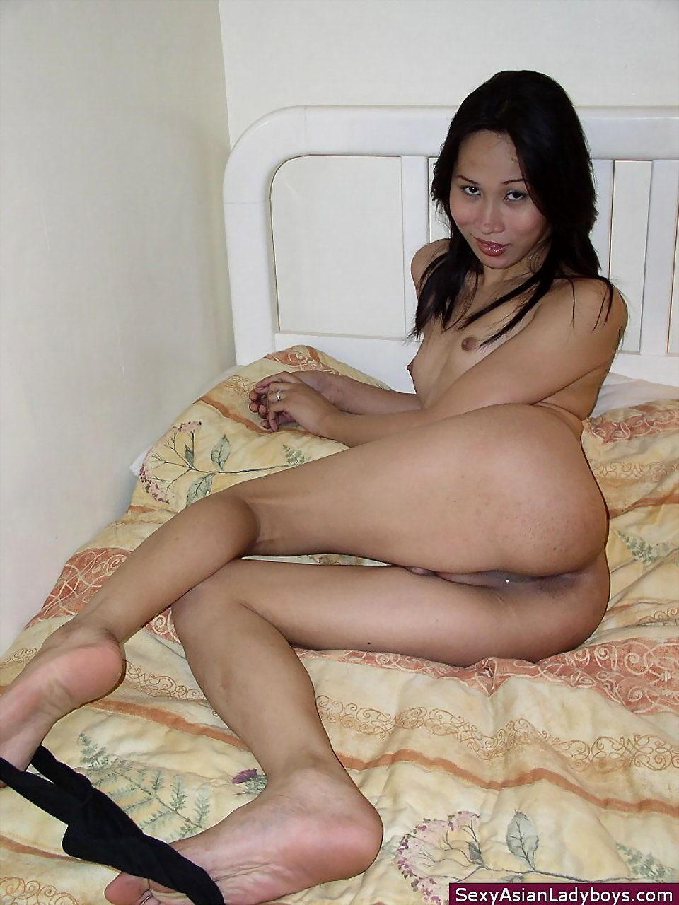 Shy Thai Tranny Offering Her Tight Brown Orifice