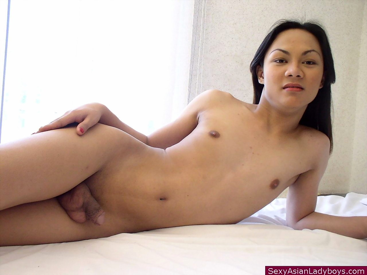 Young And Shy Shemale Undressing To Flash Her Salivating Shaved Penis