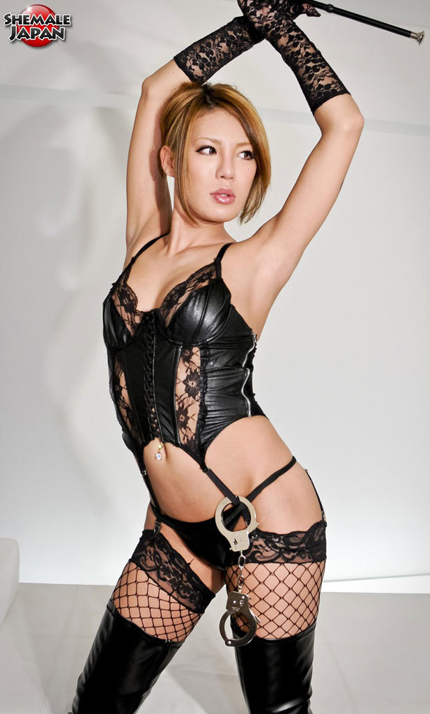 Yummy Femboy In Lace And Leather